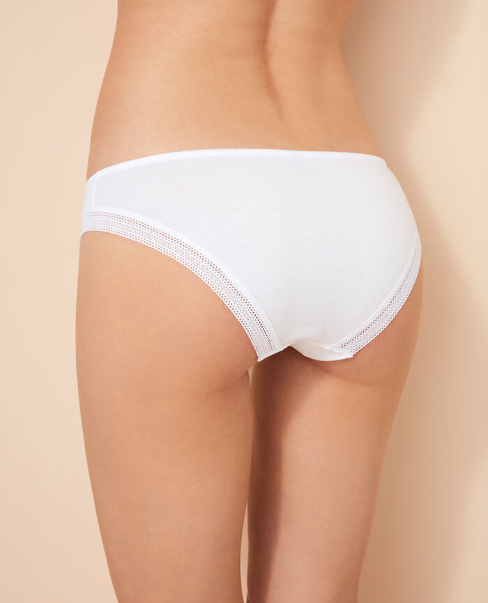 Culotte taille basse Blanc Coton