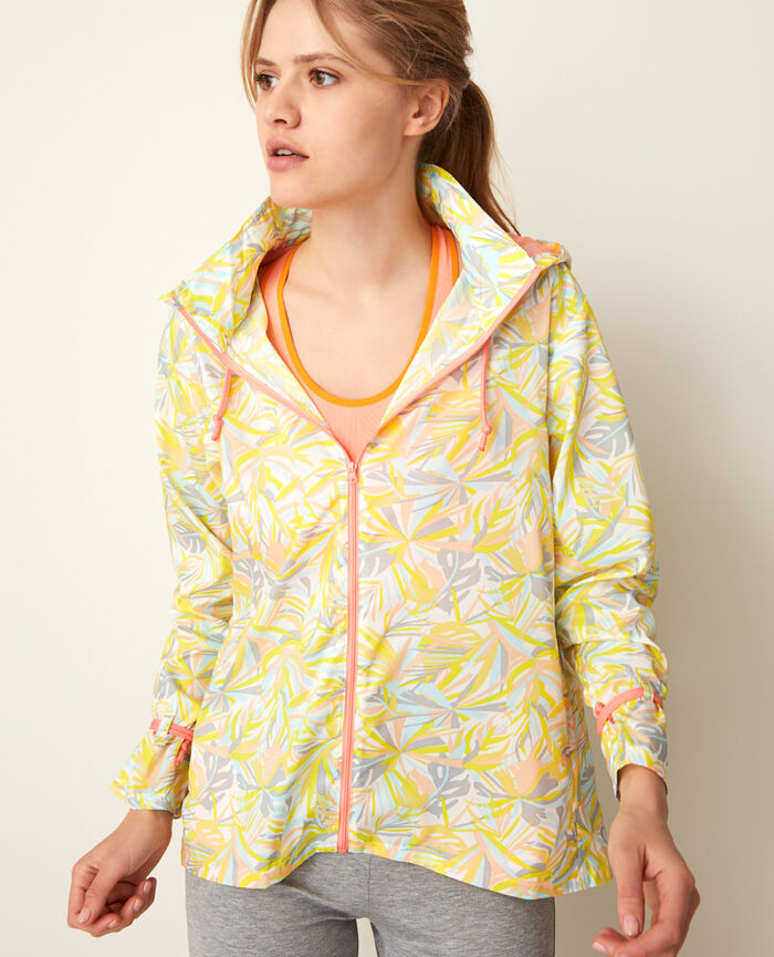 Sport windbreaker Yellow palm Run