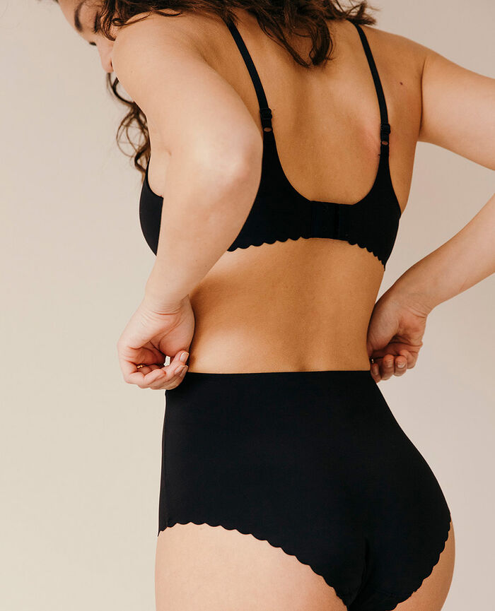 High-waisted briefs Black Secret