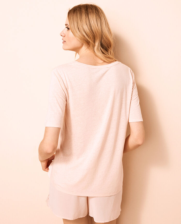 T-shirt manches courtes Beige nude Ideal