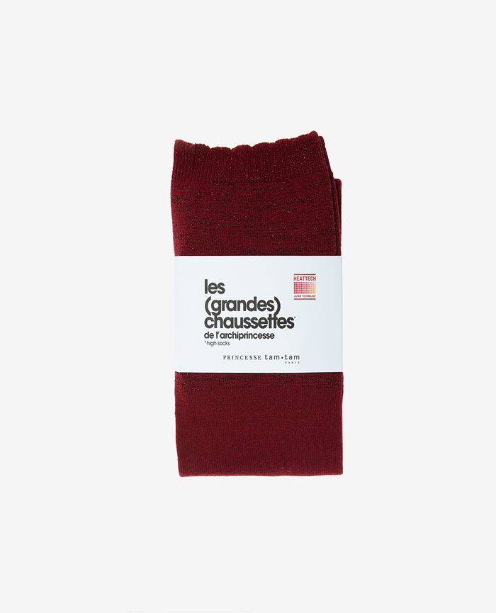 Leg warmers Leather red Sparkle
