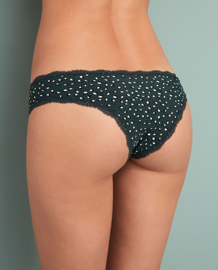 Brazilian briefs Leopard green Take away