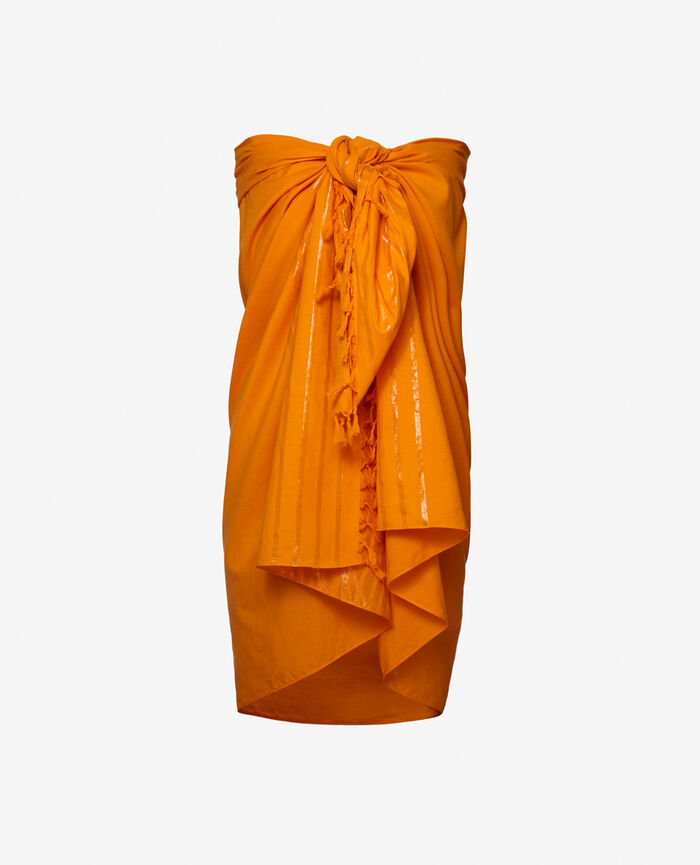 Sarong Maya orange Shiny