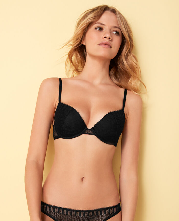 Padded push-up bra Black Serenade