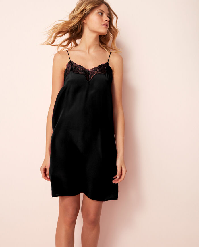 Short nightie Black Divine