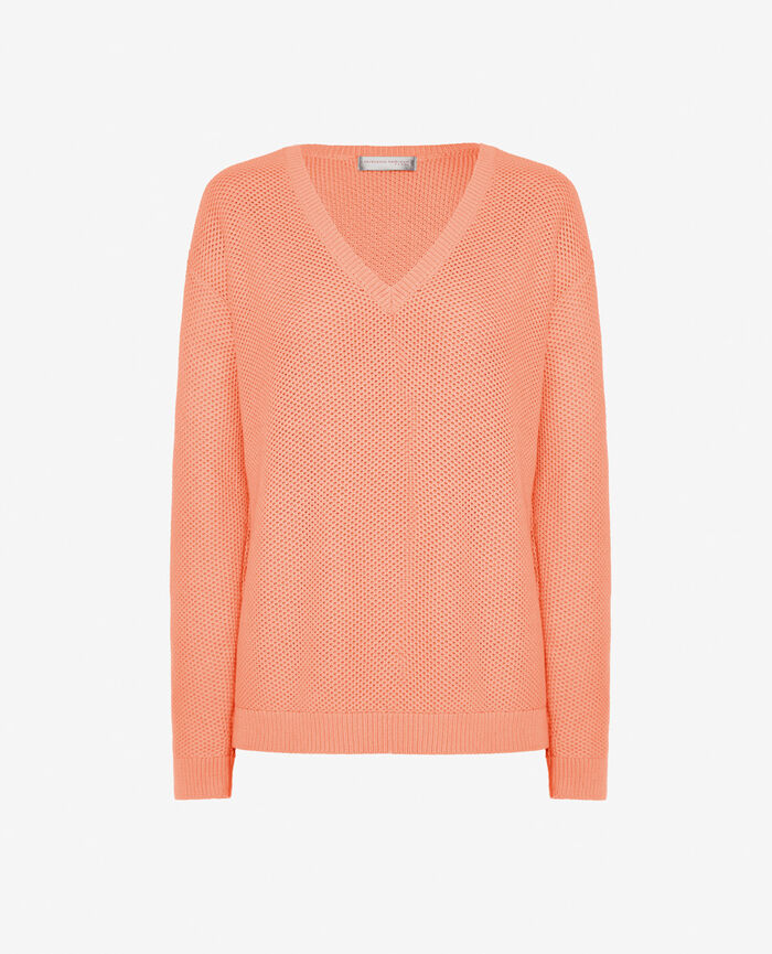 V-neck jumper Grapefruit pink Cachou