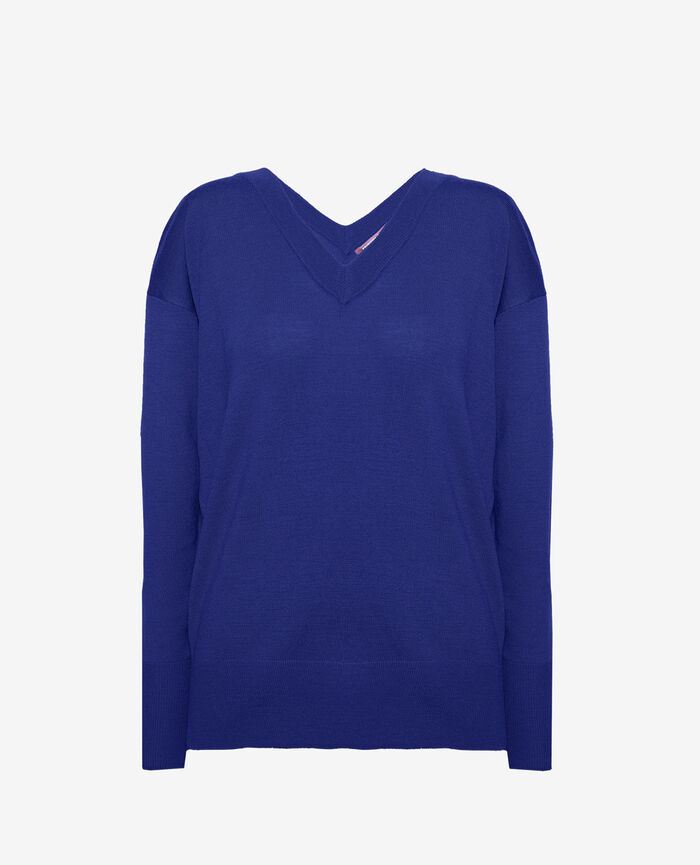 V-neck jumper Gouache blue Henri
