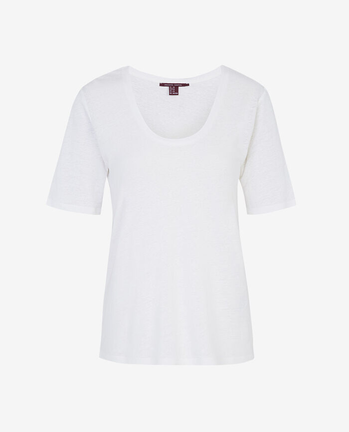 T-shirt manches courtes Blanc Ideal
