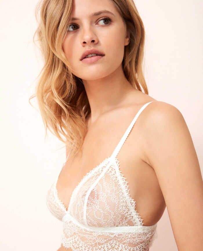 Soft cup bra Ivoire Chantilly