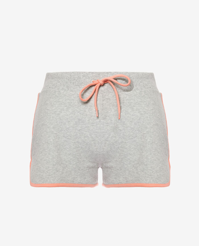 Short de sport Gris chiné Yoga