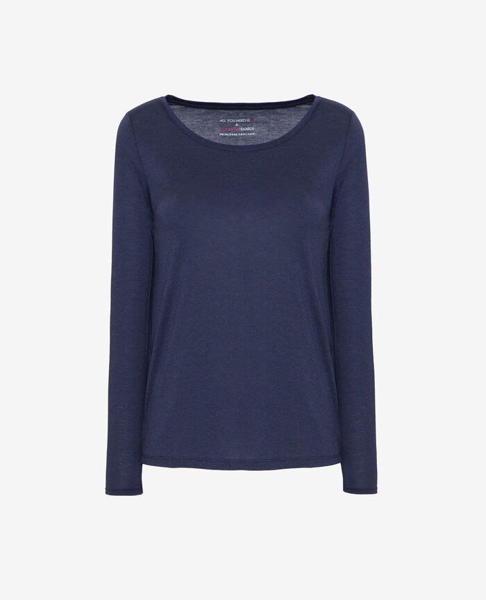 Long-sleeved t-shirt Bleu marine Latte