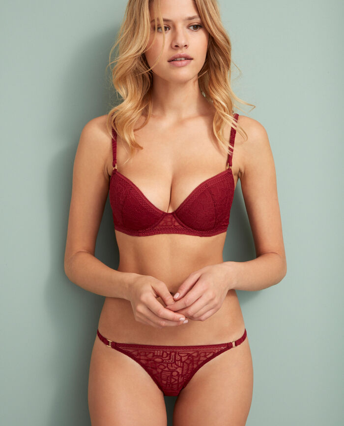 Soutien-gorge push-up mousses Rouge cuir Manhattan