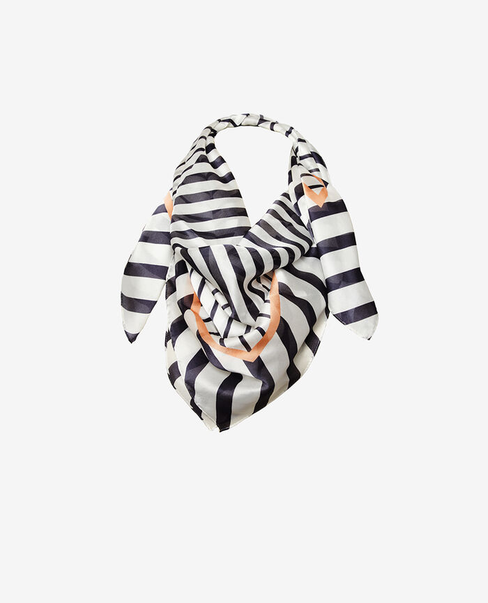 Scarf Blue stripes Lisa