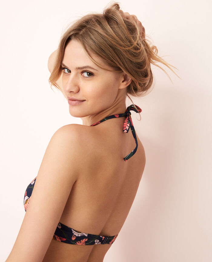 Soutien-gorge de bain triangle mini-wire Multicolore Gloria