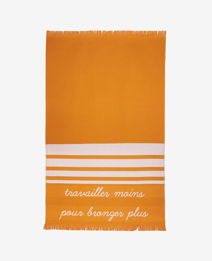 Bath towel Maya orange Farniente