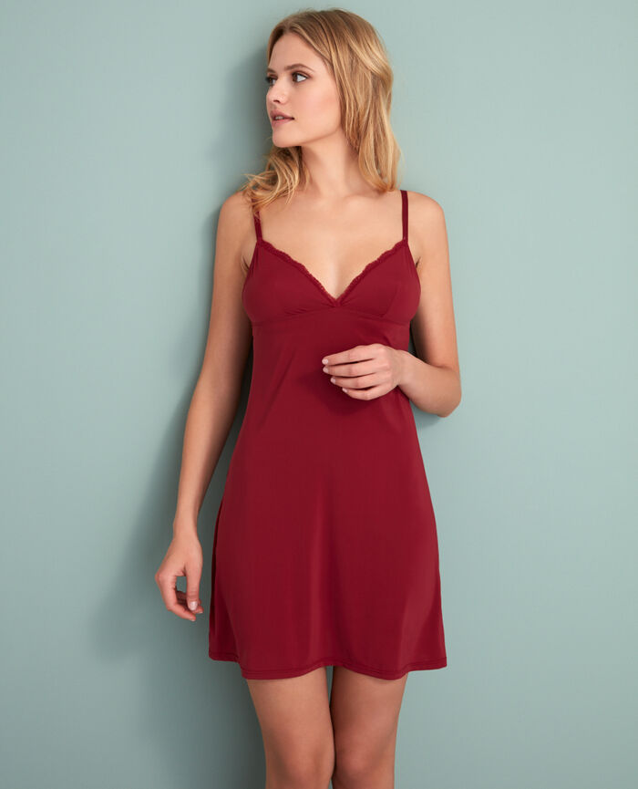 Slip dress Leather red Take away