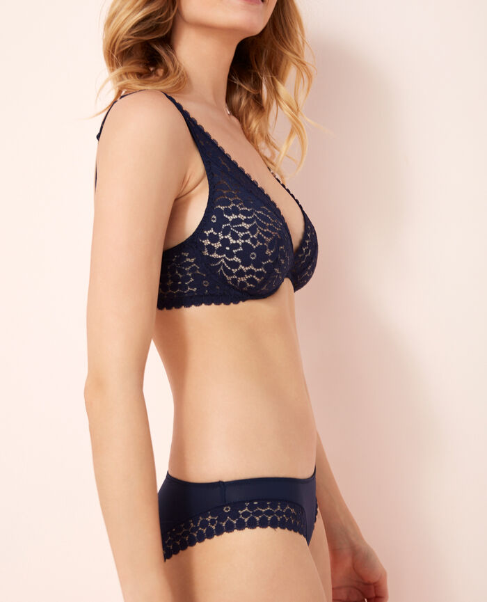 Underwired triangle bra Navy Monica