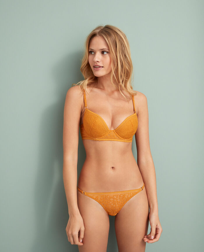 Soutien-gorge push-up mousses Jaune taxi Manhattan