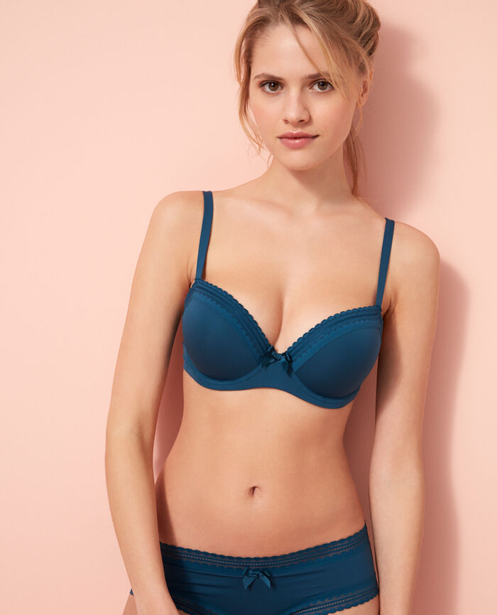 Progressive-cup push-up bra Sombrero blue Beaute