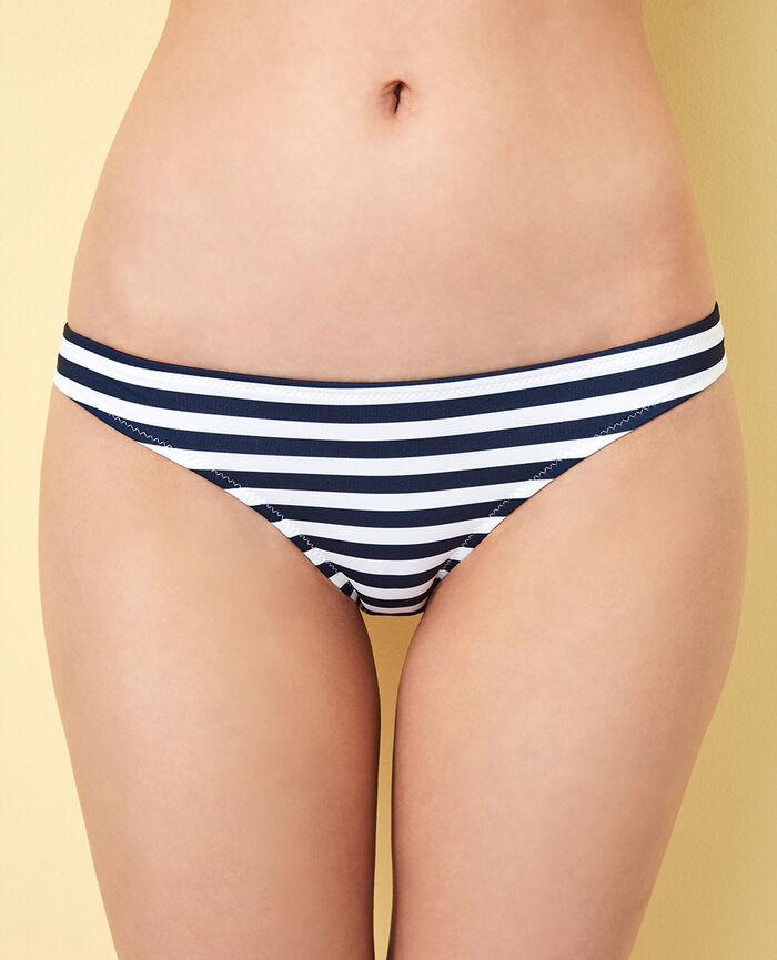 High-cut bikini briefs Blue stripes Voyage voyage