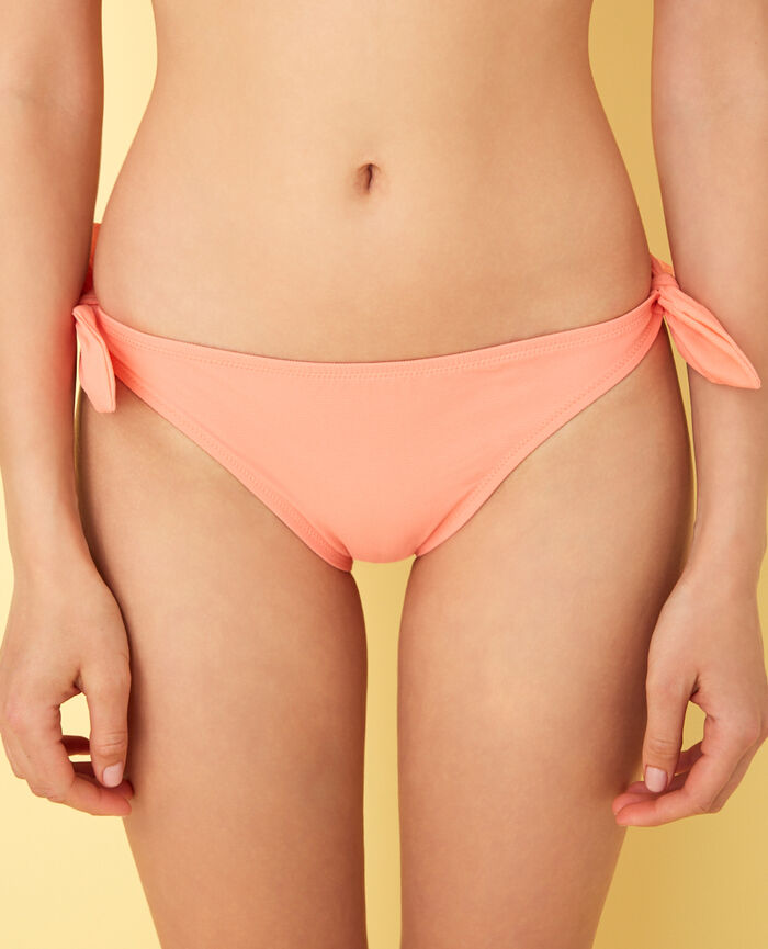 High-cut bikini briefs Grapefruit pink Nodo