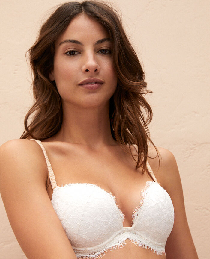 Plunge push-up bra Rose white Arty