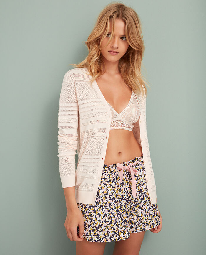 Cardigan manches longues Rose ice cream Poeme
