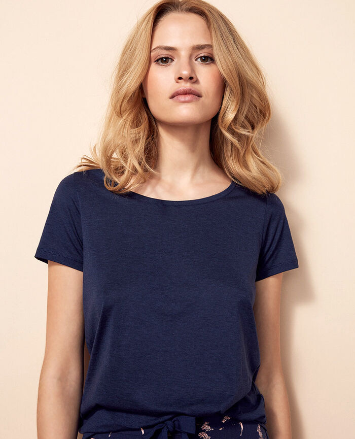 Short-sleeved t-shirt Navy Latte