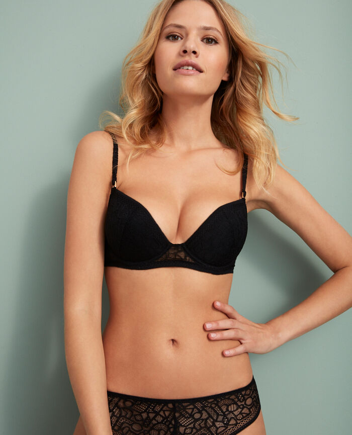 Soutien-gorge push-up mousses Noir Manhattan