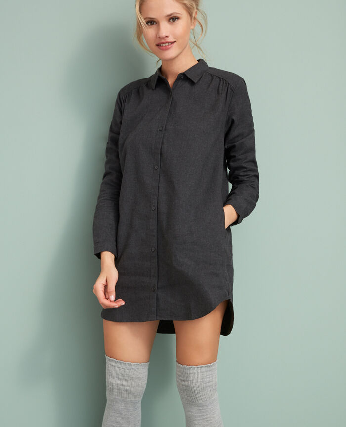 Nightie Anthracite grey Abysse