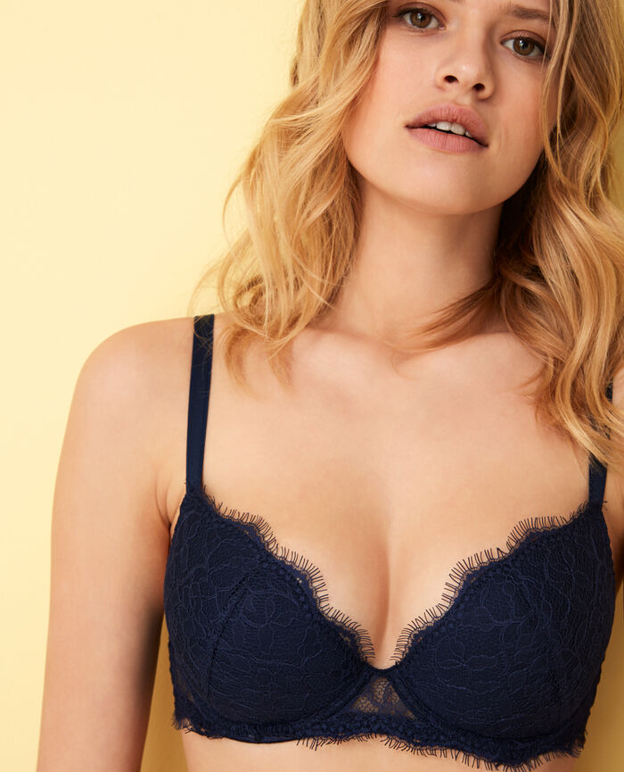 Padded push-up bra Navy Taylor