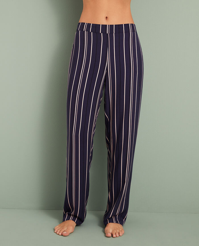 Pantalon Bleu rayures City