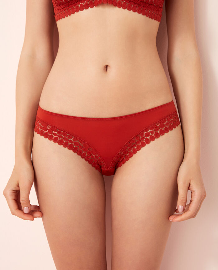 Culotte taille basse Rouge odalisque Monica