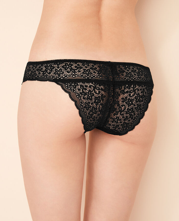 High-cut briefs Black Flora