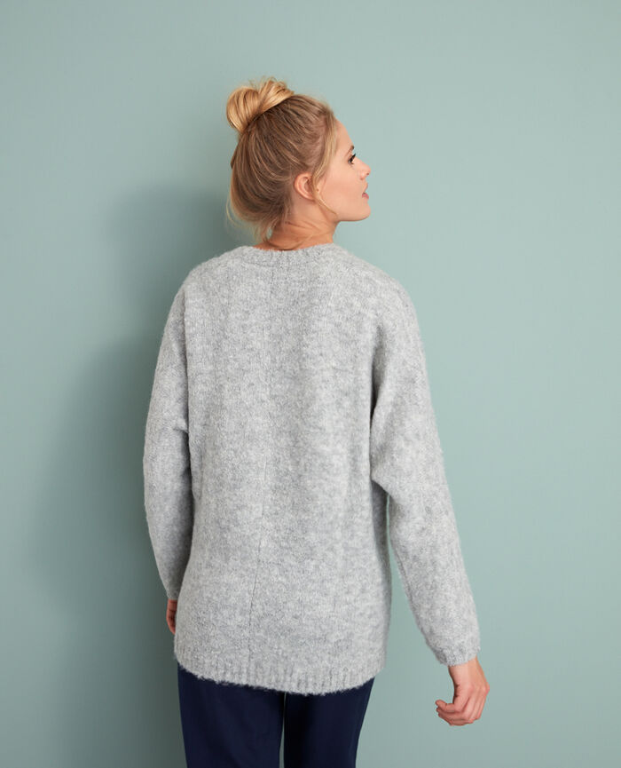 Cardigan manches longues Gris Loop
