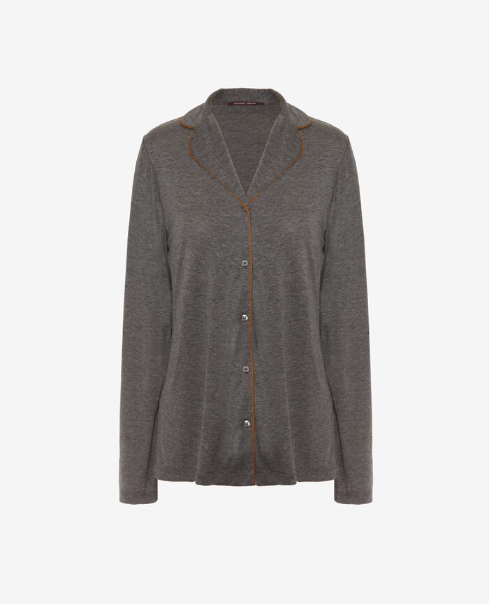 Pyjama jacket Cloud grey Latte