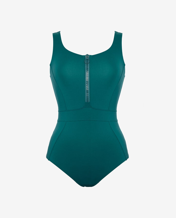 Sport swimsuit Mezcal green Aqua