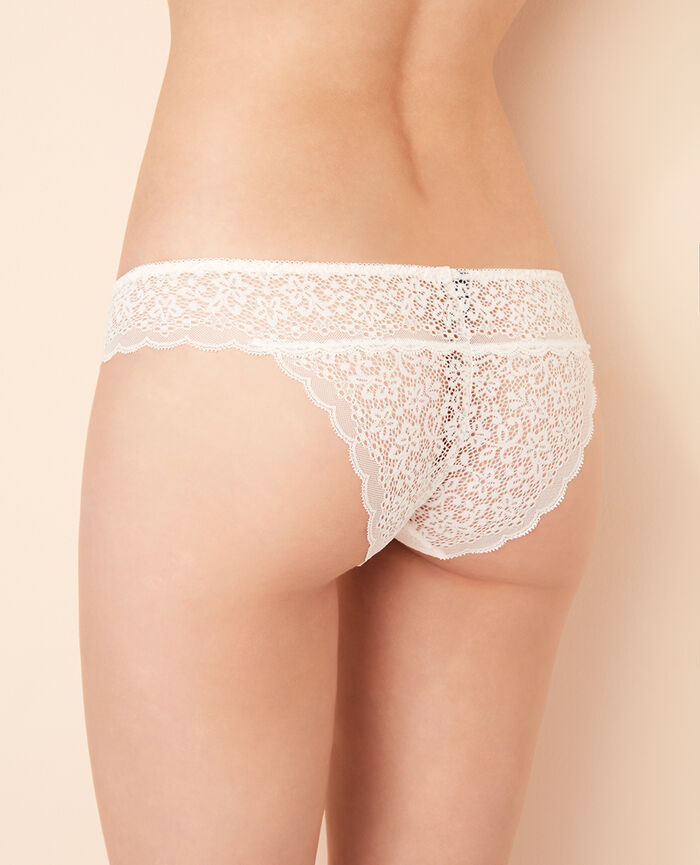 High-cut briefs Rose white Flora