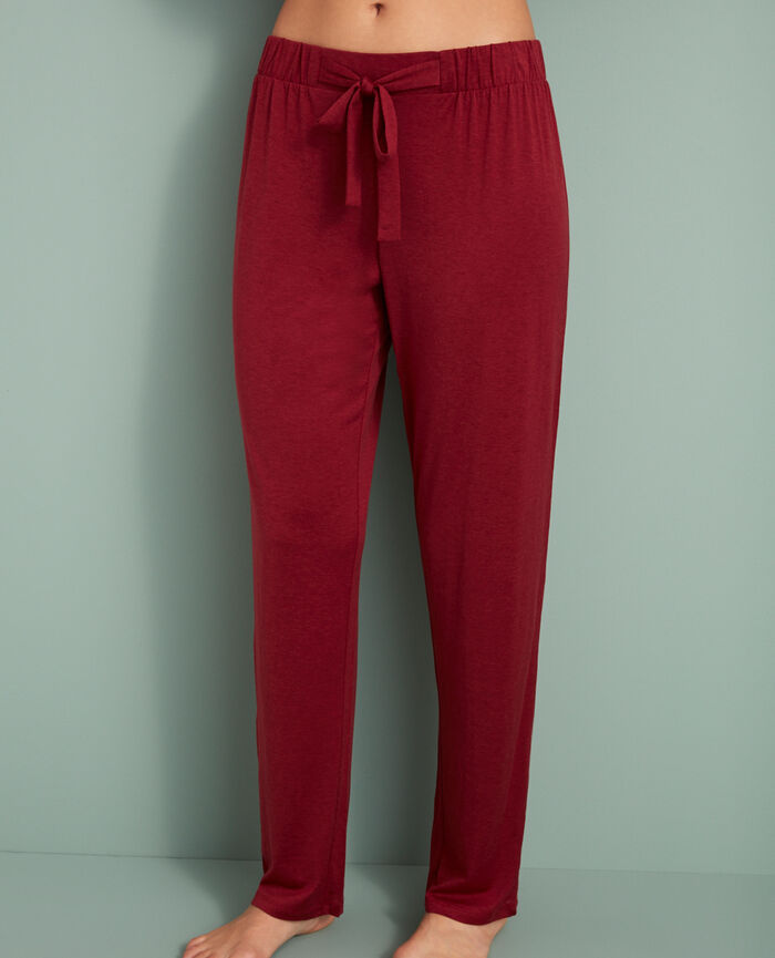 Pantalon Rouge cuir Latte