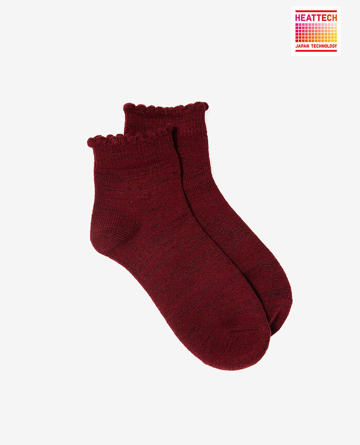 Socks Leather red Sparkle