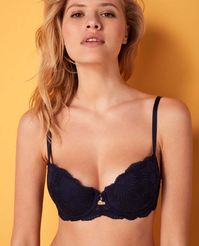 Padded push-up bra Navy Soleil