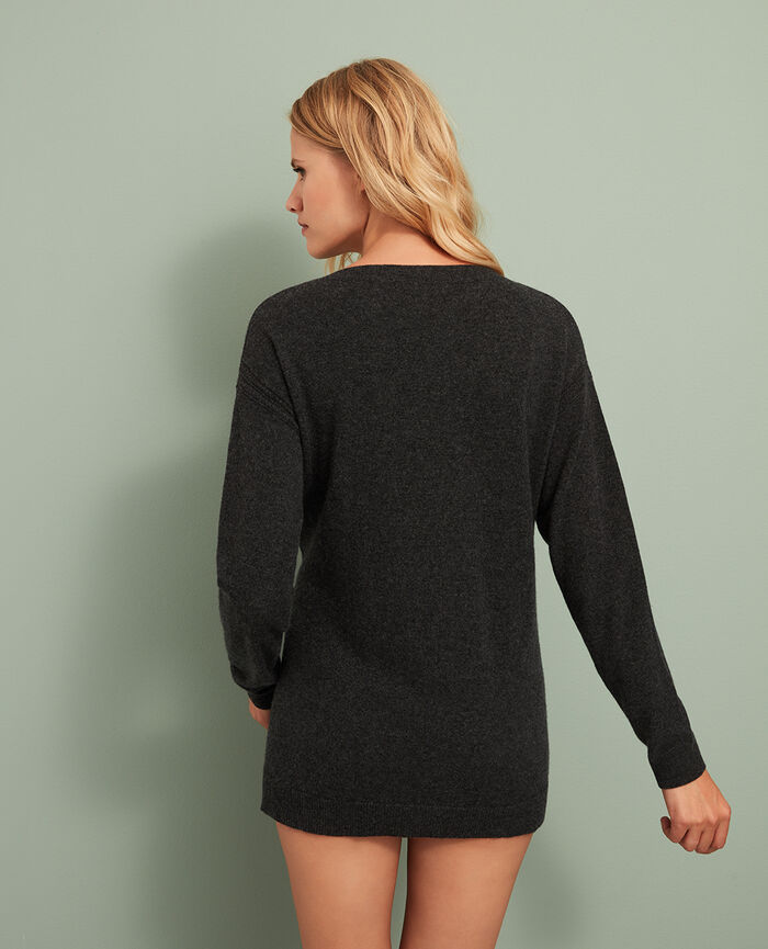 Pull col v Gris anthracite Cozy