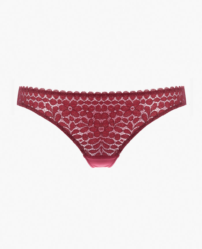 Culotte taille basse Rouge cuir Movica