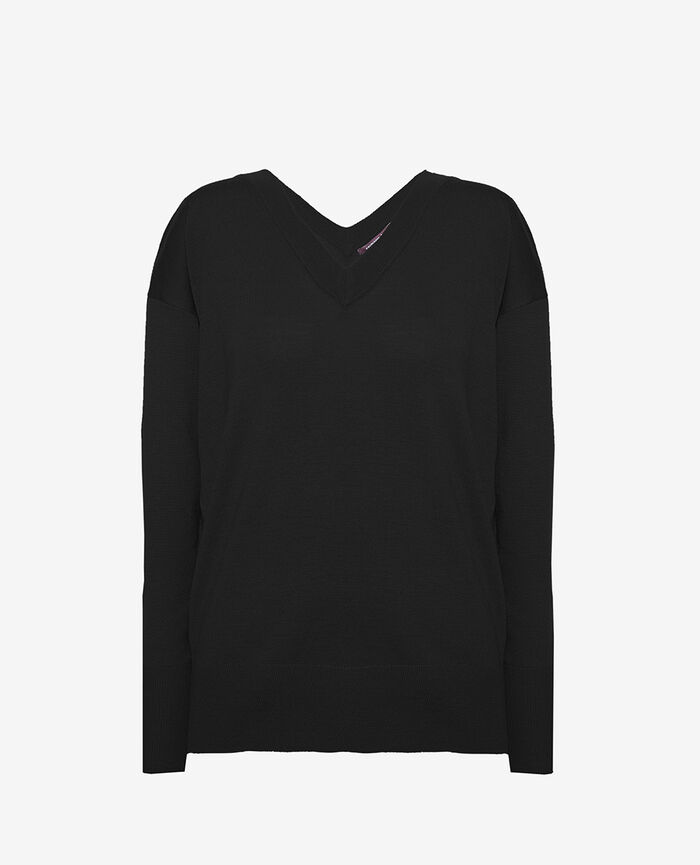 V-neck jumper Black Henri
