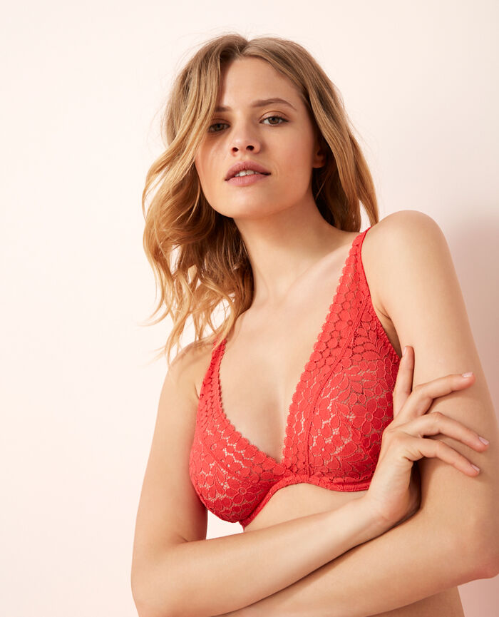 Underwired triangle bra Bright pink Monica