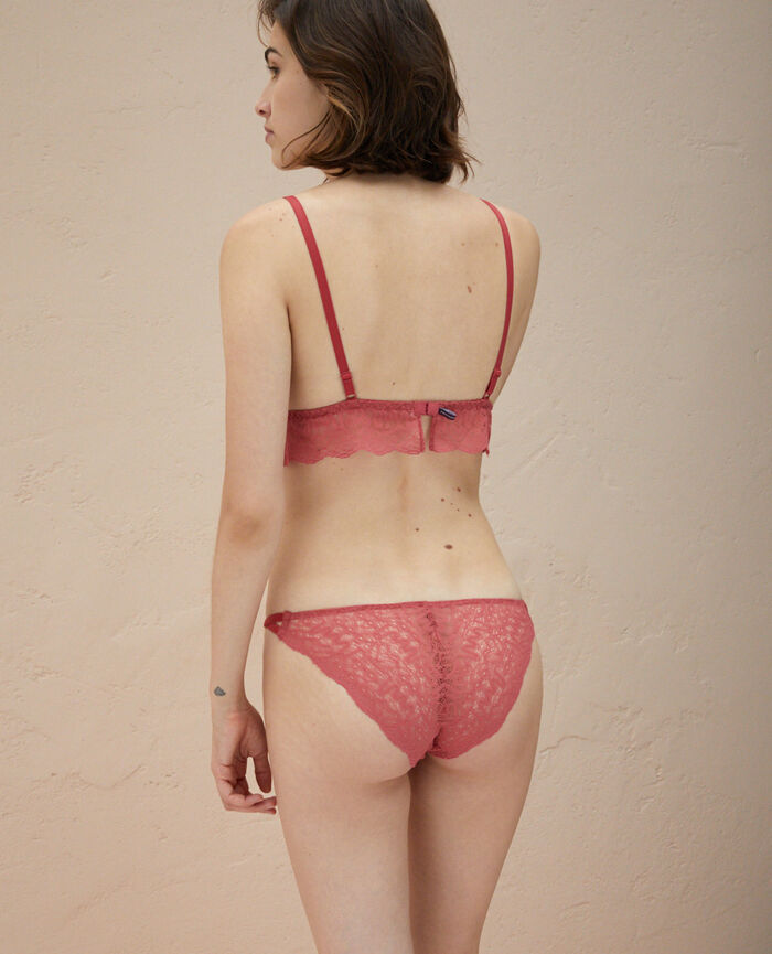 Culotte taille basse Rouge pivoine Muse