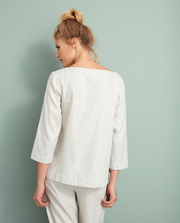 Top Beige chiné Abysse