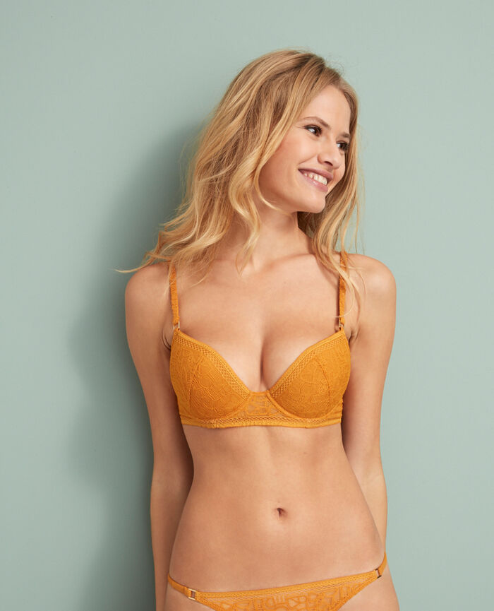 Padded push-up bra Taxi yellow Manhattan