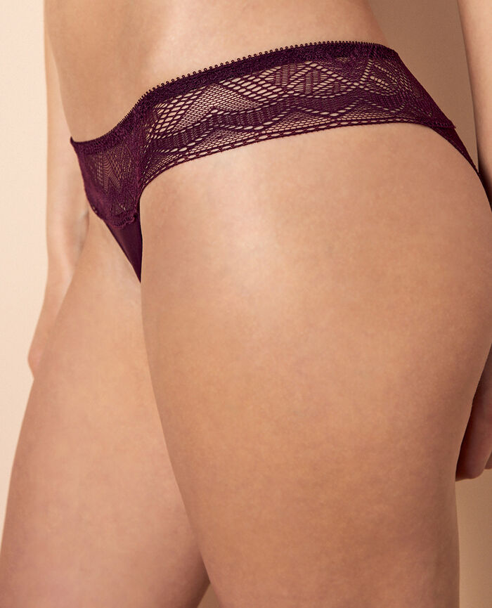 Culotte taille basse Violet ethnic Passion