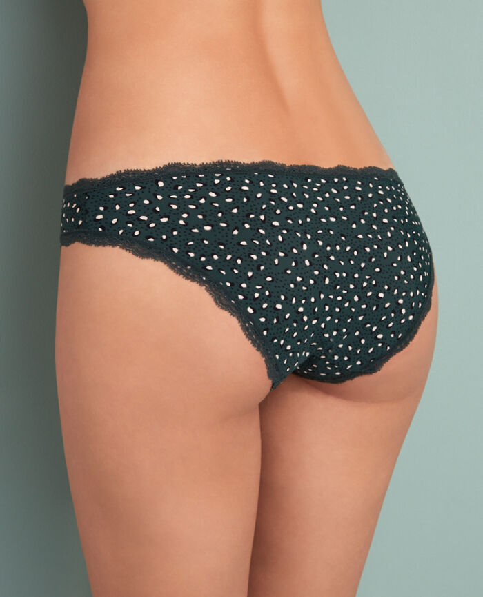 Culotte taille basse Léopard vert Take away